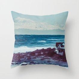 Owhiro Bay Gliders Throw Pillow