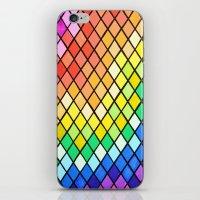 pantone iPhone & iPod Skins featuring Geo-Pantone by Aries Art