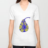 pear V-neck T-shirts featuring Pear by Bonnie J. Breedlove