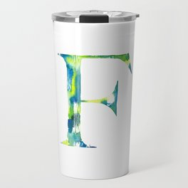 Letterforms F : Frankie Travel Mug