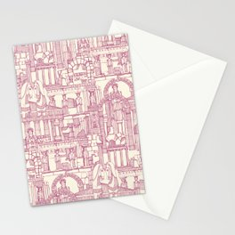 Ancient Greece cherry pearl Stationery Cards