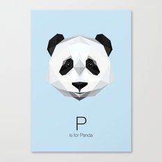 P is for Panda Canvas Print