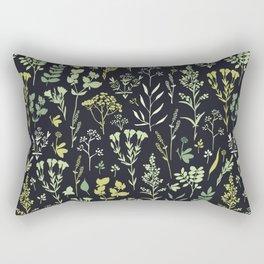 Green herbs Rectangular Pillow