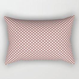 Canyon Rose and White Polka Dots Rectangular Pillow