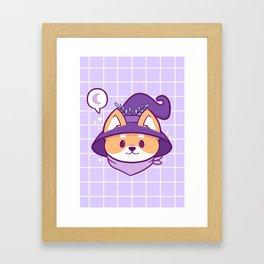 Witch Doggo Framed Art Print