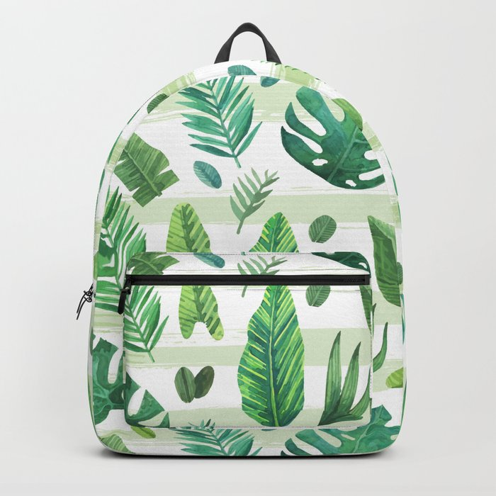 Tropical Palm Tree Leaves Backpack