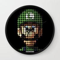 luigi Wall Clocks featuring Pictodotz - Luigi by dudsbessa
