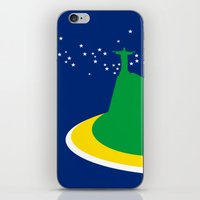 brazil iPhone & iPod Skins featuring BRAZIL by Marcus Wild