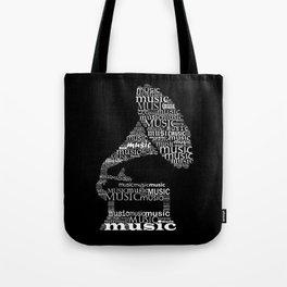 Invert typographic gramophone Tote Bag