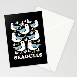 Seagull Team Squad Family Sea Gull Seabirds Stationery Cards