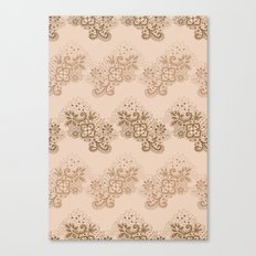 Brown Lace Canvas Print