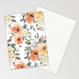 Peachy Keen Pattern Stationery Cards