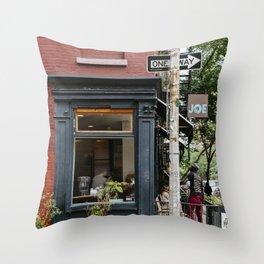 Picturesque restaurant in Greenwich Village, New York Throw Pillow