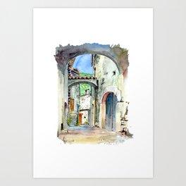 Viol des Bernards - Chatillon en Diois Art Print