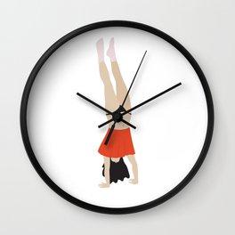 Cheeky: Handstand Wall Clock