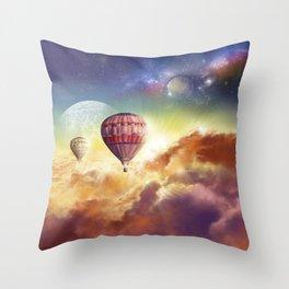 clouds,sky and ballons Throw Pillow