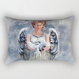 Snow Angel Rectangular Pillow
