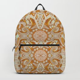 Curves & lotuses, abstract arabesque Backpack