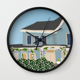 Gilmore house in spring Wall Clock