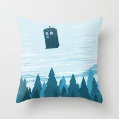 I Believe - Blue Throw Pillow