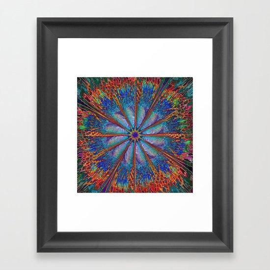 Mandala - Fire Wheel Framed Art Print