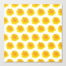 Hibiscus pattern_YI Canvas Print