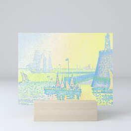 """Paul Signac """"Evening (The Jetty of Vlissingen) (Abend-La jetée de Flessingue)"""" from the journal Pan Mini Art Print"""