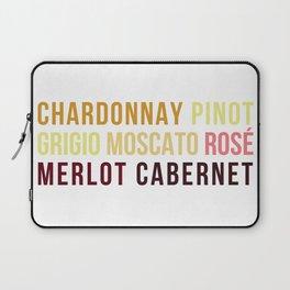 Wine Typography Spectrum Laptop Sleeve