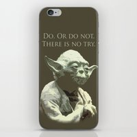 yoda iPhone & iPod Skins featuring Yoda by DisPrints