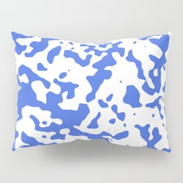 Spots - White and Royal Blue Pillow Sham