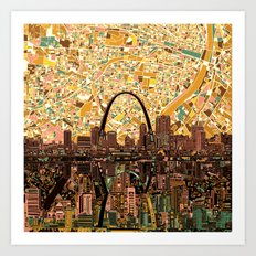 st louis city skyline Art Print