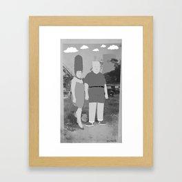 Mommy and Me (black & white) Framed Art Print