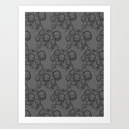 Spaztic Bots 3 Art Print