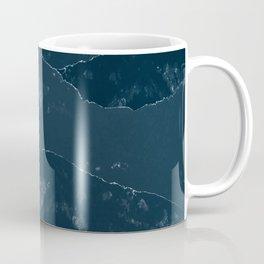 Navy Blue Mountains #1 #decor #art #society6 Coffee Mug