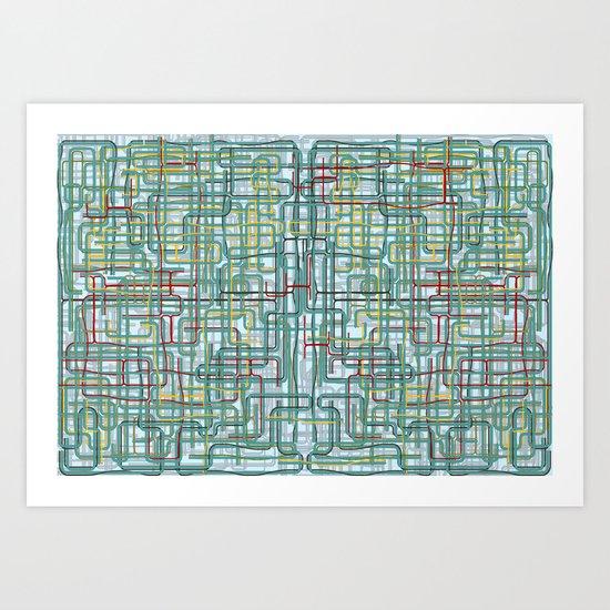 Pipe nightmare Art Print