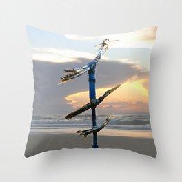 Migratory Birds Throw Pillow
