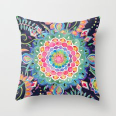 Color Celebration Mandala Throw Pillow