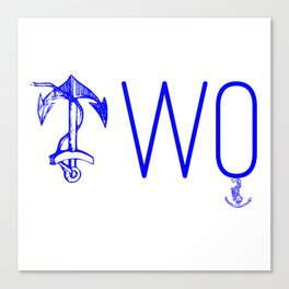 Double Anchor Canvas Print