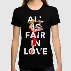 All Is Fair In Love MEDIUM Womens Fitted Tee Black