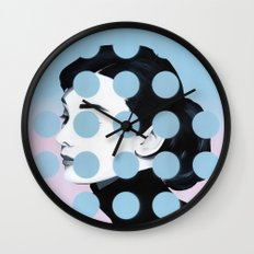 Audrey (Dots) by Famous When Dead Wall Clock