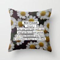 best friend Throw Pillows featuring Best Friend: by Sara Eshak
