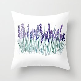 Larkspurs Throw Pillow