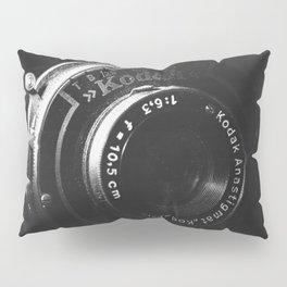 A Close-up of a Vintage Kodak Camera   Black & White Photography   Product Photography   Photo Print   Fine Art Print Pillow Sham