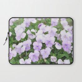 Purple small pansy garden Laptop Sleeve