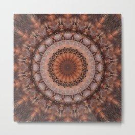 Mandala homely atmosphere Metal Print