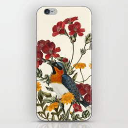 Little Bird and Flowers iPhone Skin
