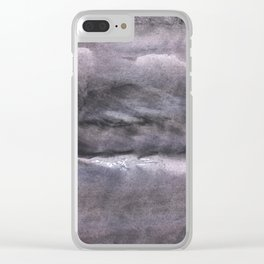 Gray nebulous wash drawing painting Clear iPhone Case