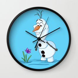 Olaf And The Flower Wall Clock