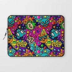Retro Bear Picnic Laptop Sleeve
