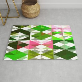 Pink Roses in Anzures 5  Abstract Triangles 1 Rug